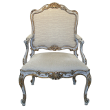 White and Gilt single Chair