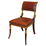 Mahogany and Gilt French Desk Chair.